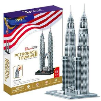 Harga The Famous Building Malaysia Twin Tower 3D Puzzle