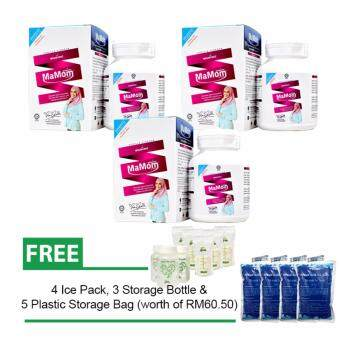 Harga Mamom Milk Booster 3 x Pack (1000mg x 60 Chewable Tablets) PLUS Free Gift (worth of RM60.50)