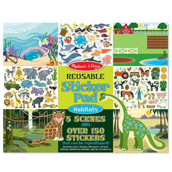 Harga MELISSA & DOUG Habitats Reusable Sticker Book