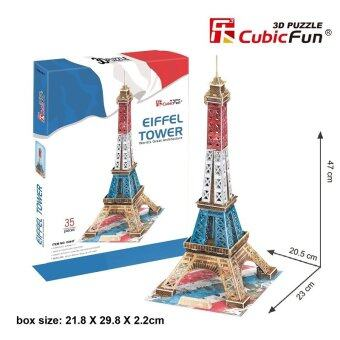 Harga 3D Puzzle - Eiffel Tower (France) - 35 pieces - C044T - Special Edition