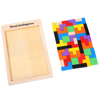 Harga Fancytoy Children Educational Toys Wooden Puzzles Versatile Building Blocks Tetris