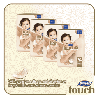 Harga Drypers Touch Mega Pack Large 54's (4 packs)