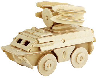 Harga Robotime 3D Armoured Truck Wooden Puzzle Educational Assemble Toy