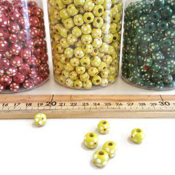 Harga Wooden beads, yellow color
