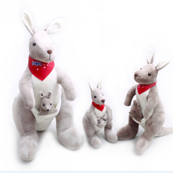 Harga 35cm/50cm/70cm High Quality Cute Kangaroo Parenting Plush Dolls Soft Cloth Doll Kangaroo in Australia Gifts for Children YZT0122