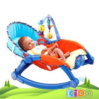 Harga Kido House - Fisher-Price P0107 Newborn-to-Toddler Protable Rocker Chairs (BLUE)
