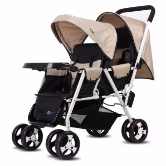 Harga Little Rabbit Double Twins Baby Stroller BrotherLight Weight Baby Stroller ( Only 9.60kg+/-)