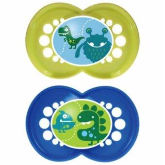 Harga MAM Original Monster Pacifier - Yellow & Blue (16m+)