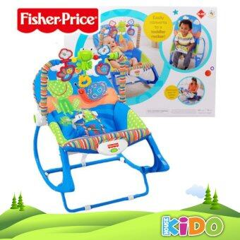 Harga Kido House - Fisher-Price X7033 Infant-to-Toddler Rocker Chair (Blue)