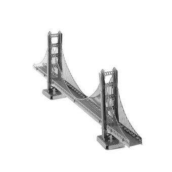 Harga IBERL 3D Metal Puzzle adult models Leaning educational toy DIY Golden Gate Bridge Metal 3D Jigsaw Puzzles Best Gift