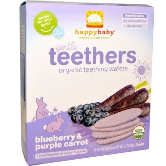Harga Happy Baby Teething Wafer - Blueberry/Purple Carrot