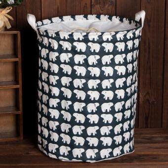 Harga Hot Sales Large Laundry Basket Toy Basket Storage Bag Home Finishing Storage Box - Polar Bear