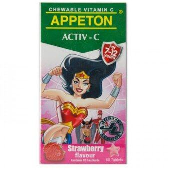 Harga Appeton A-Z Activ-C Vitamin C (Strawberry) 60'S