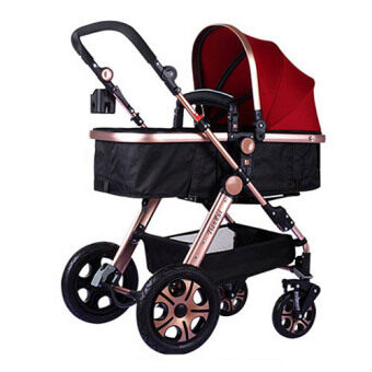 Harga Luxurious Bassinet Extreme Stroller 2016 RED