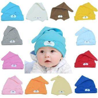 Harga LALANG Cute Newborn Sleep Hat Infant Cap Baby Cotton Cap Beanie Hat Red