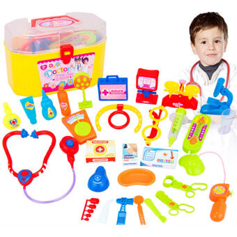 Harga 360DSC 30 Pieces Pretend & Play Doctor Set with Stethoscope and Medical Doctor's Equipment Educational Toy