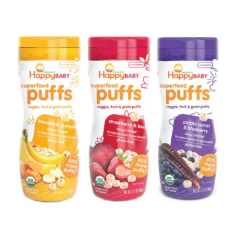 Harga Happy Baby Happy Puff 60gm (Banana,Blueberry,Strawberry)