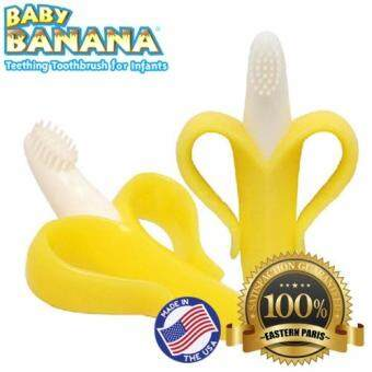 Harga Baby Banana Teething Toothbrush For Infant x 2 (US Imported)