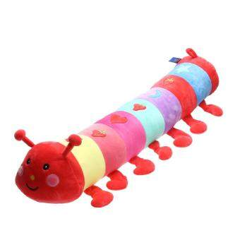 Harga 1pc Baby Plush Toys Large Dolls Colorful Caterpillar Pillow Doll (1#) (Multicolor)