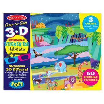 Harga MELISSA & DOUG HABITATS 3D REUSABLE STICKER