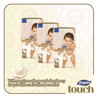 Harga Drypers Touch Mega Pack X-Large 46's (3 packs)