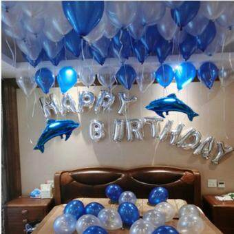 Harga Blue ocean Happy birthday ballons