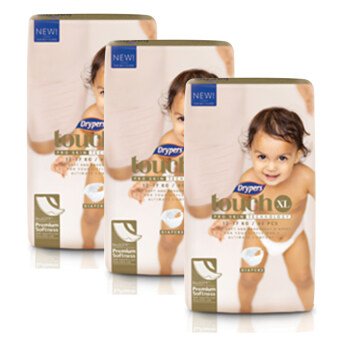 Harga Drypers Touch Premium Softness Mega Pack XL46 (3 pack)