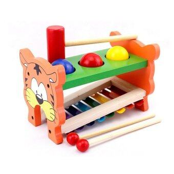 Harga Xylophone with Knock Ball Wooden Toy - Tiger