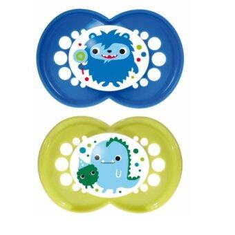 Harga MAM Original Monster Pacifier - Blue & Yellow (16m+)