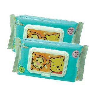 Harga Disney Cuties Wet Wipes Set 80PCS - Tigger & Pooh