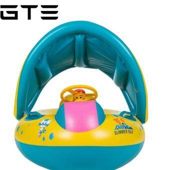 Harga Baby Sunshade PVC Inflatable Boat Swimming Laps