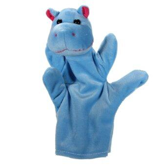 Harga Zoo Animal Hand Sock Glove Finger Puppets Sack Plush Toy Hippo