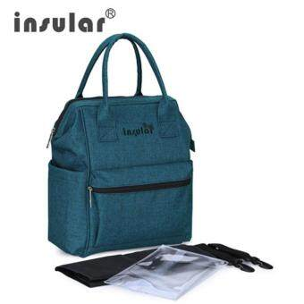 Harga Lan-store Premium Quality Mummy Bag-INSULAR Waterproof Diaper Bag Backpack For Stroller Fashion Maternity Bags Mother Travel Nursing Bag Mommy Baby Handbag Nappy Bags