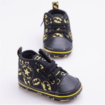 Harga Baby Boy Fashion Canvas Shoes Batman Style Newborn Toddler Shoes