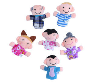 Harga Leegoal Cute 6pcs Family Finger Puppets People Includes Mom Dad Grandpa Grandma Brother Sister - Intl