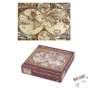 Harga OH 1000 Pcs/set DIY Jigsaw Puzzle Famous Painting of World Art Oil Painting World map