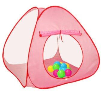 Harga BGHA-20 Children's Play Tent Breathable Yarn Net Game House Pink