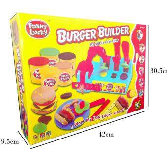 Harga Educational Toy Play Dough Burger Builder Funny Lucky