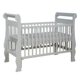 Harga Baby Cot Baby Crib Cradle Natural Wooden 4 in 1 Convertible Baby Cot Dion