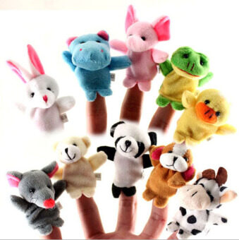 Harga Fancytoy 10Pcs Baby Educational Family Finger Puppets Doll Animal Toy