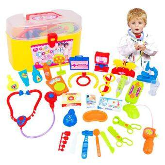Harga 2017 New Child Pretend Play Toys Pretend Doctor Toys For Kids Doctor Play sets Plastic Educational Toy Gifts GW05