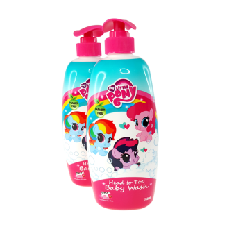 Harga My Little Pony Twin Pack 750ML Head To Toe Baby Wash - Honey Strawberry Cow Milk