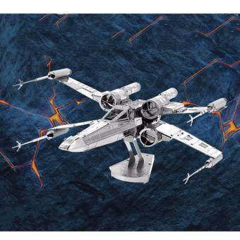 Harga Hequ 3D Model Bandai Scale Model Kit Star Wars X-Wing Fighter Starfighters Assembled model(Silver)