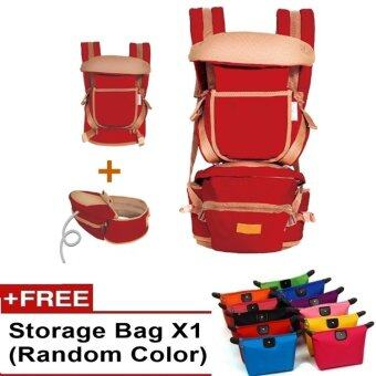 Harga Ibaby Quality Baby Hipseat Baby Carrier Korea Brand Shoulder FREE Baby Carry Bag (Red)