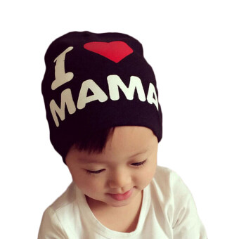 Harga Buytra Kids Hat Knitted Cotton Toddler I LOVE PAPA MAMA Black I Love Mama