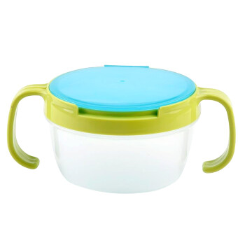 Harga Children Babies Kids Snack Catchers Bowl Snack Container Holder with Two Handle Green