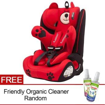 Harga Reebaby 968 Augus Bear Isofix & Latch Racing Car Seat with Isofix & Latch (9kg to 36kg) Red + FOC Friendly Organic Cleanser 118ml (random)