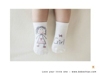 Harga Little Girl Baby Socks (0-24 months)