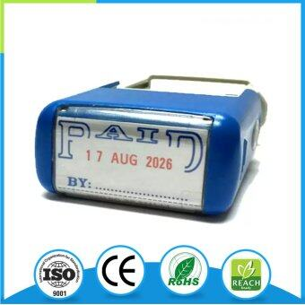Harga Eco.mark Green Self-inking PAID Stamp With Date Adjustable / Date Stamp With PAID