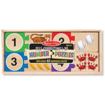 Harga MELISSA & DOUG Self-Correcting Number Puzzle